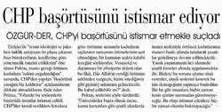 CHP Başörtüsünü İstismar Ediyor