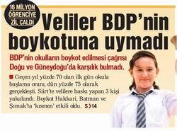 Veliler BDPnin Boykotuna Uymadı