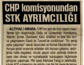 CHP Komisyonundan STK Ayrımcılığı