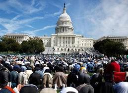 ABD Kongresi Önünde Cuma Namazı