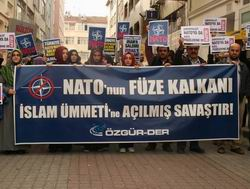 """Özgür-Der'den """"NATO Füze Kalkanı"""" Protestosu"""