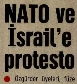NATO Ve İsraile Protesto