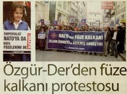 Özgür-Derden Füze Kalkanı Protestosu