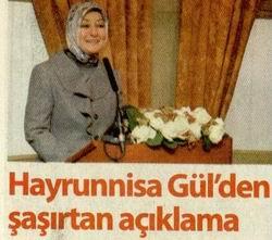 Hayrunnisa Gül'den Saşırtan Açıklama