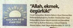 Allah, Ekmek, Özgürlük!