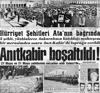 Anıtkabir'e Gömülen Protestocu Öğrenciler