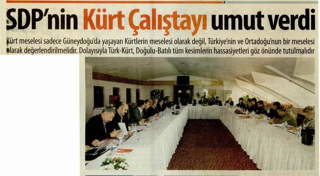 SDPnin Kürt Çalıştayı Umut Verdi