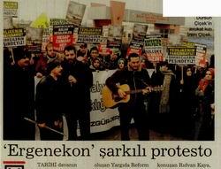 'Ergenekon Şarkılı Protesto