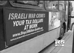 ABDde Savaş Suçlusu İsrail Otobüsleri
