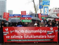 İstanbulda Samedova Özgürlük Yürüyüşü
