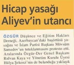 Hicap Yasağı Aliyevin Utancı