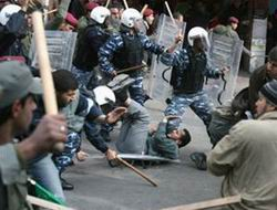 Filistinde Tunus Halkına Destek Eylemine Engel