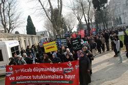 Sultanahmette Aliyev Zulmünü Protesto