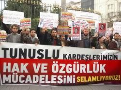 İstanbul'dan Tunus İntifadasına Selam!