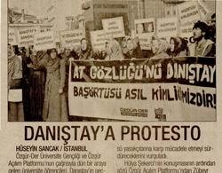 Danıştaya Protesto