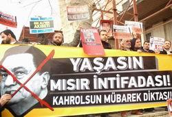 Mısır İntifadasına İstanbul'dan Destek Eylemi