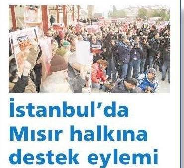 İstanbulda Mısıra Destek Eylemi