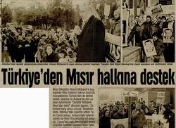 Türkiye'den Mısır Halkına Destek