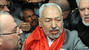 Raşid Gannuşi Tunus'a Döndü