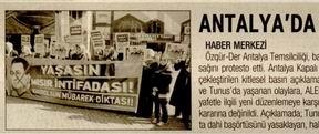 Antalyada Danıştaya Protesto
