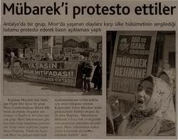 Mübarek'i Protesto Ettiler