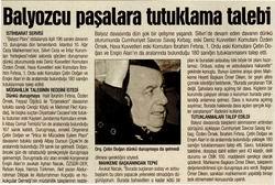 Balyozcu Paşalara Tutuklama Talebi