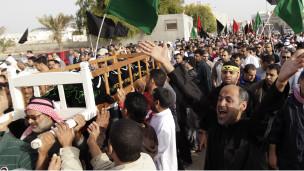 Bahreynde Cenaze Törenlerine On Binler Katılıyor