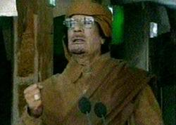 Diktatör Kaddafi Televizyonda Saçmaladı