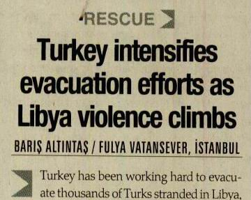 Turkey Intensifies Evacuation Efforts As Libya Violence Climbs