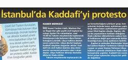 İstanbulda Kaddafiyi Protesto