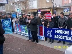 28 Şubat Darbesine Tatvandan Protesto