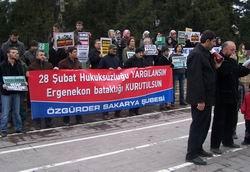 28 Şubat Sakarya'da Protesto Edildi