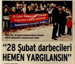 28 Şubat Darbecileri Yargılansın!