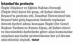 İstanbulda Protesto