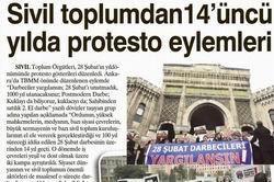 Sivil Toplumdan 14üncü Yılda Protesto Eylemleri