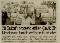 İzmirde 28 Şubat Protestosu