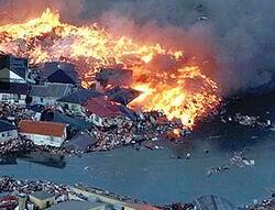 Depremden Sonra Tsunami Vurdu -Video-