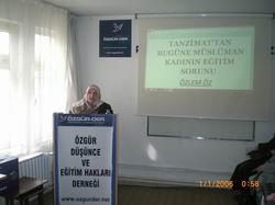 Türkiyede Müslüman Kadının Eğitim Sorunu Semineri