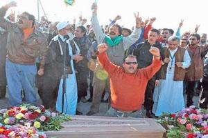 Kaddafi'nin İngilizce Cenazeleri
