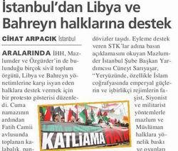 İstanbuldan Libya ve Bahreyn Halklarına Destek