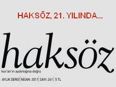 Haksöz Dergisi Nisan Sayısı İle 21. Yılına Girdi!