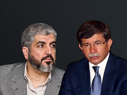 Davutoğlu Şam'da Meşal'le Görüştü