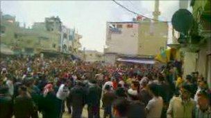 Suriyede Göstericilerin Cenazesinde 26 Ölü