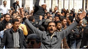 Halepte İlk Gösteri