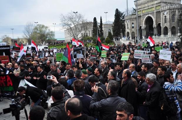 Suriye Yönetimi Beyazıt'ta Protesto Edildi