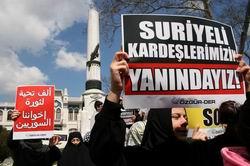 Suriye'deki Katliama İstanbul'da Protesto