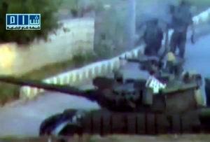 Suriye Ordusu Tanklarla Der'aya Girdi (VİDEO)