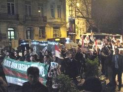 Suriyedeki Katliam İstanbul Teşvikiyede Protesto Edildi
