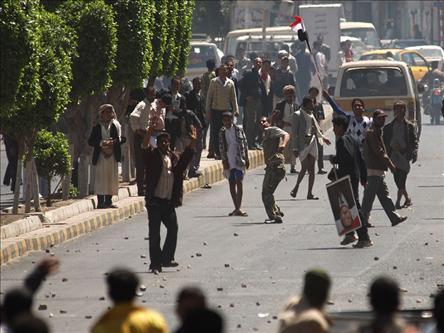 Yemende Protestoda Dehşet