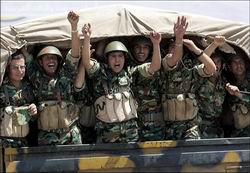 Suriye Ordusu Başkente Girdi (Video)